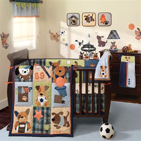 Sport Themed Bedroom Furniture Baby Boy Sports Crib Sport Crib Bedding Set