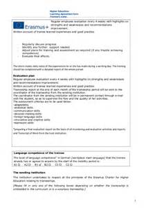 learning agreement template learning agreement for traineeships rumeysa