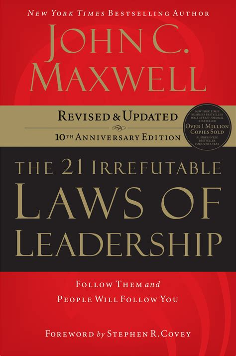 Book Review The 21 Irrefutable Laws Of Leadership