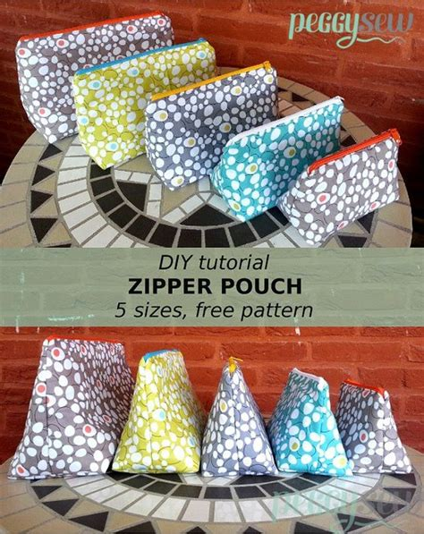multi zippered pouch pattern diy multi purpose zipper pouch free pattern in 5 sizes