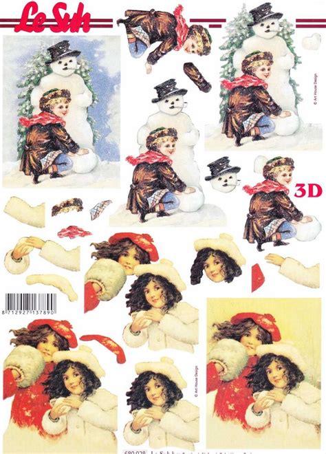 Free 3d Decoupage Sheets - children die cut 3d decoupage sheet