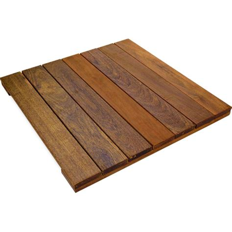 deckwise wisetile 1 6 ft x 1 6 ft solid hardwood deck