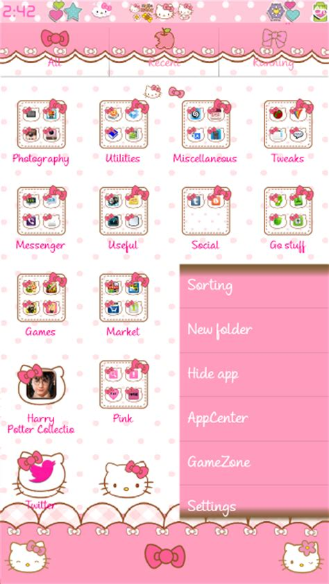 theme hello kitty cho iphone 5 iphone theme go launcher