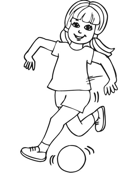 coloring page soccer girl soccer coloring pages free printables for kids
