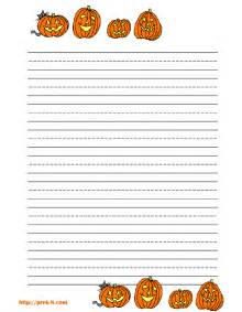 Halloween Writing Paper Template Halloween Pumpkins Primary Lined Kids Writing Paper Free