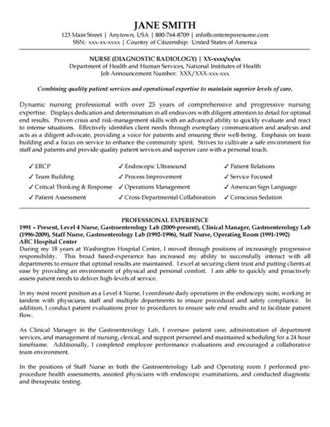 Endoscopy Cover Letter by Endoscopy Nursing Resume With Experience Resume Format