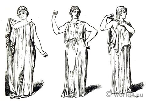 ancient greek costume history pictures showing how to recreate a ancient greek costumes the tunic or chiton costume history