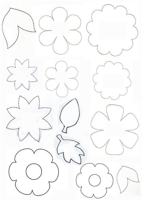 fiori di feltro cartamodelli cartamodelli per fiori e foglie feltro e cucito creativo