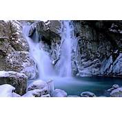 Beautiful Waterfall Winter Snow Ice Rock Picture With