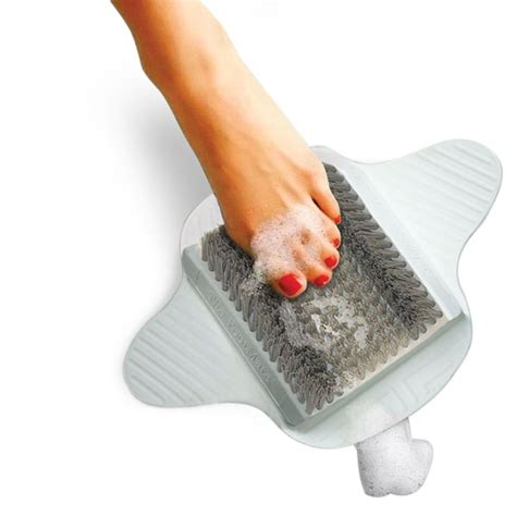 the shower foot scrubber hammacher schlemmer
