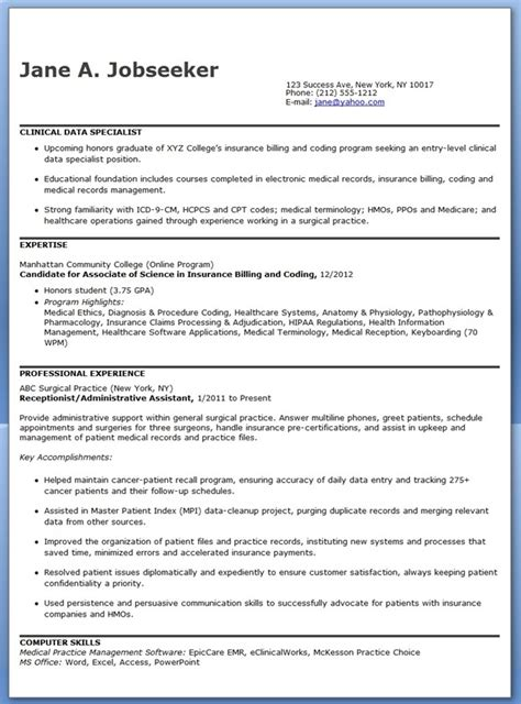 program specialist resume sle clinical resume exles 28 images clinical research