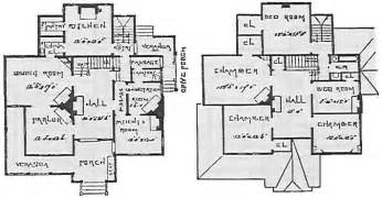 Old house plans from the 1800s with home office for narrow lot