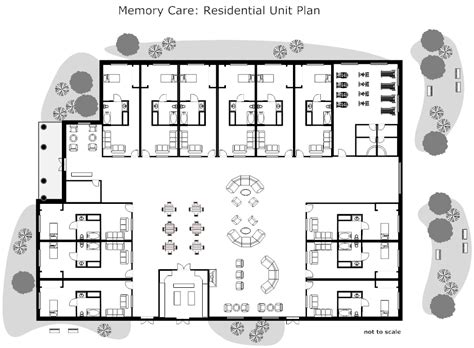 nursing home floor plans residential nursing home unit plan