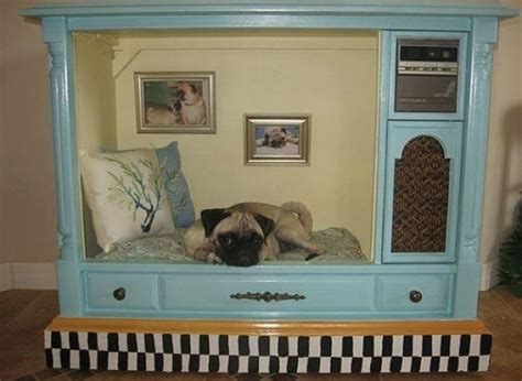 tv dog bed a tv set turned dog house proves that anything can be