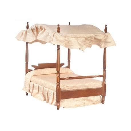 double canopy bed double canopy bed walnut dollhouse beds superior