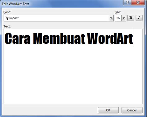 cara membuat kalimat abstrak belajar dasar office membuat tulisan keren dengan wordart