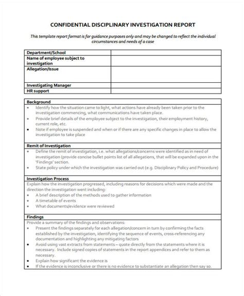 Findings Report Template Word Findings Report Template Sle Management Board Report
