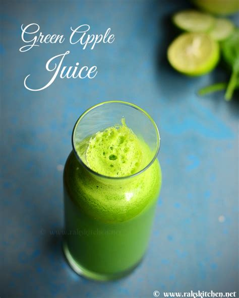 Green Apple Detox Juice Recipe by Green Apple Detox Juice Green Apple Juice Raks Kitchen