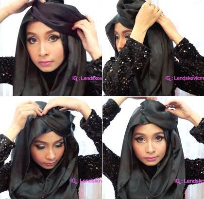 tutorial hijab ciput topi tutorial hijab untuk til unik dengan aksen ala topi