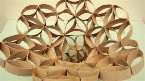 floreros tubos de carton florero frutero realizado con tubos de cart 243 n de rollo