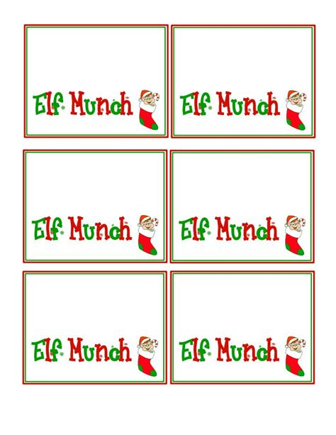free printable elf name tags 5 best images of printable elf tags elf kisses printable