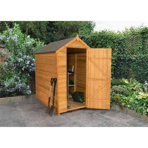6 X 4 Garden Shed by Forest Garden Overlap Windowless Garden Shed 6 X 4 At