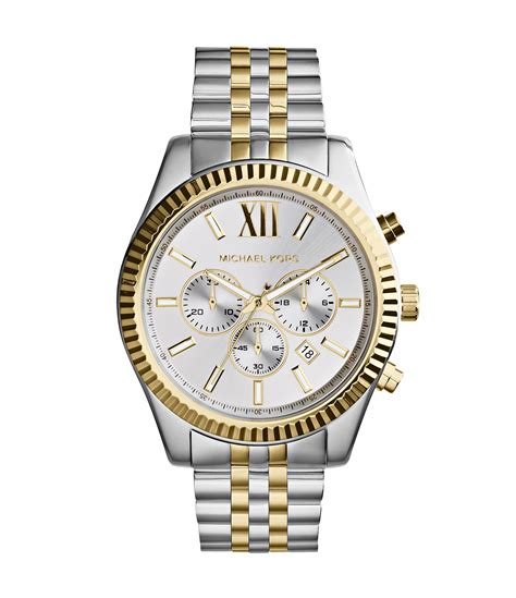 Michael Kors Uhr Gold Weiß by Michael Kors 180 S Two Tone Stainless Steel