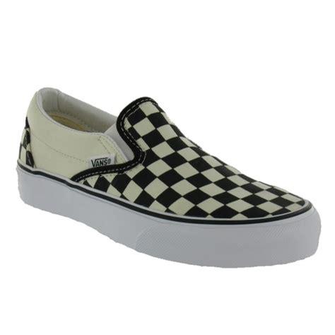 vans flat shoes vans womens classic slip on black white checkerboard