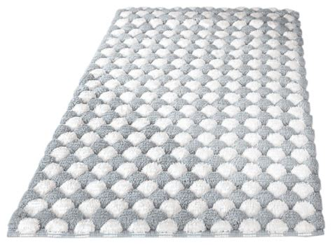 Silver Bathroom Rugs Silver Contemporary Machine Washable Cotton Bathroom Rug