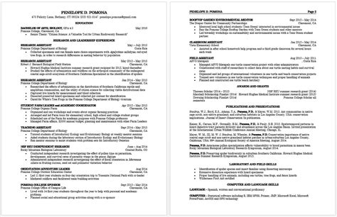 What Is Resume Cv by How To Write A Curriculum Vitae Pomona College In
