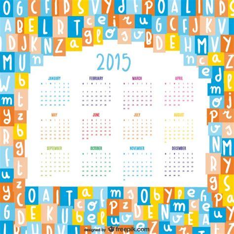 Calendario De Letra Calendario 2015 Con Letras Afabeto Descargar