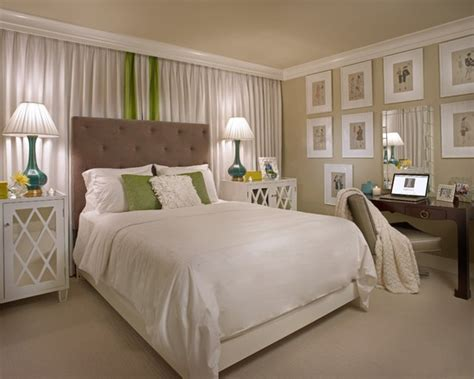 Contemporary spaces curtain behind bed design pictures remodel decor and ideas page 4