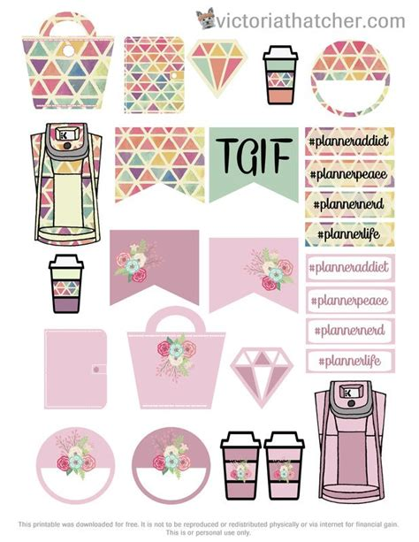 free printable journal stickers free printable planner purse planner stickers from