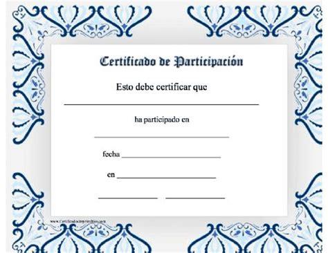certificados a estudiantes para imprimir certificado de participaci 243 n para imprimir los