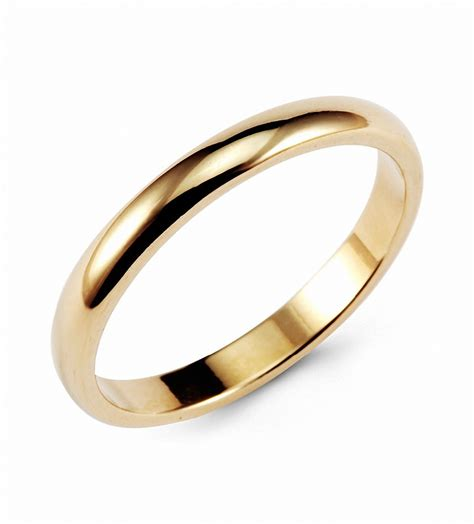Wedding Rings Classic by Hanlob Gold Classic Tungsten Ring 3mm Classic Wedding
