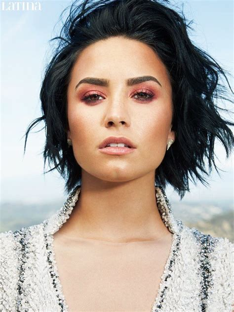 latina hair updos demi lovato is latina magazine s june july 2016 cover star