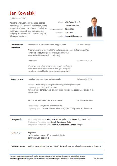 Cv In Przyklady Write My Research Paper For Me Resume Web Writer Assignmentcontract Web Fc2