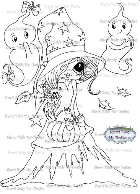 halloween eyeball coloring page instant download digital digi sts big eye big head