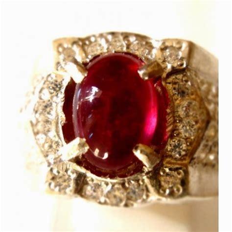 Asli Cincin Batu Mustika Giok Merah khasiat cincin batu mustika merah delima asli dahsyat