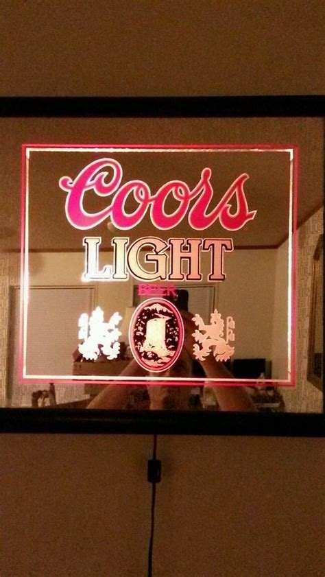 coors light lighted sign vintage coors light lighted mirror sign works coors