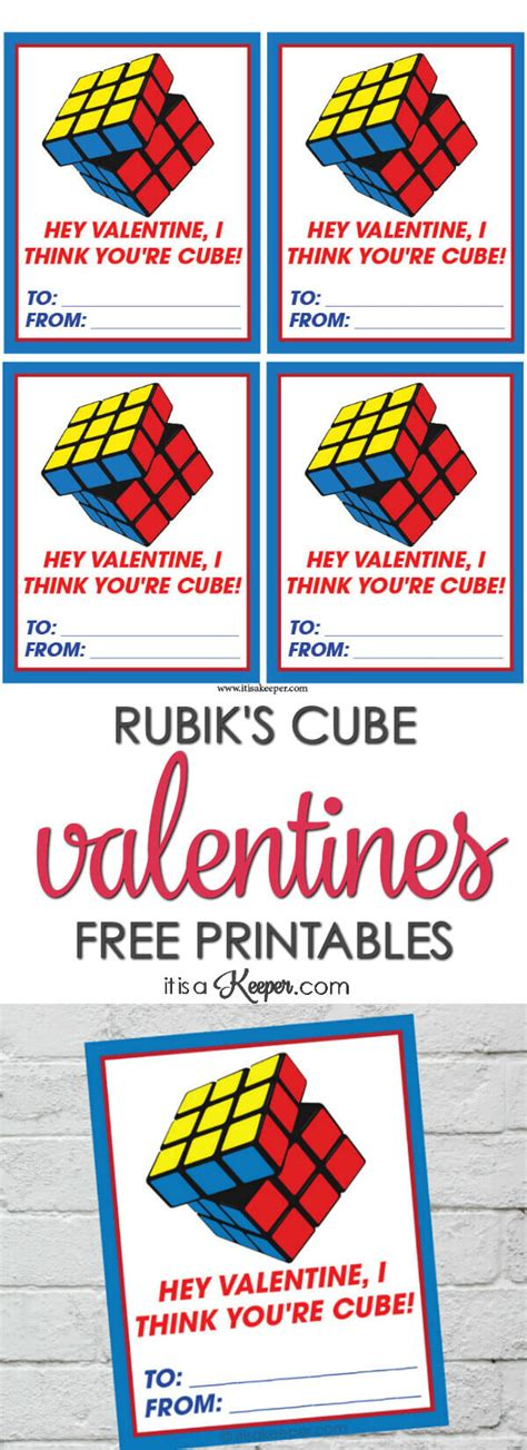 printable rubik s stickers rubik s cube valentine cards printable it is a keeper