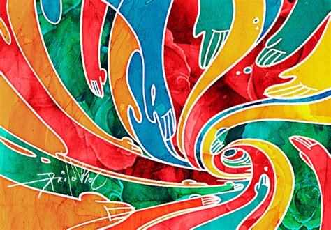 Batik Painting Abstrak Warna 08 16 16 myfabric2u