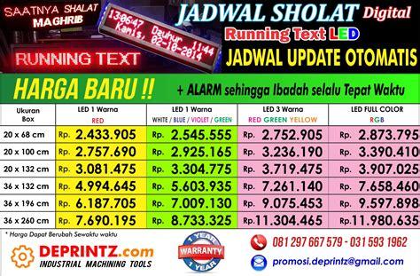 Jadwal Waktu Sholat Running Text Harga Termurah indobeta