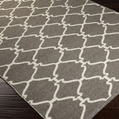 Grey And Brown Rug woven overcasttrellis grey brown wool rug 5 x 8