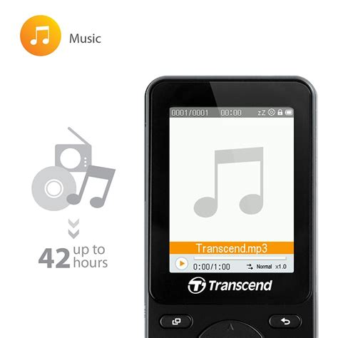 Mp3 Player Hitam transcend t sonic mp710 mp4 digital player 8gb hitam