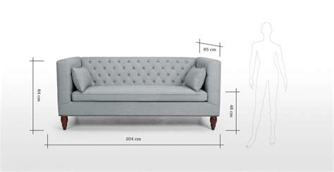 3 seater sofa dimensions in india flynn 3 seater sofa in grey made