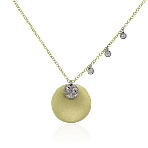 meira t 14k two tone gold 0 17ctw disc pendant