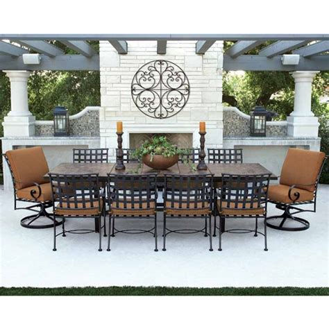 ow outdoor furniture ow classico w 10 seat dining set w expanding tile top table ow classico set1