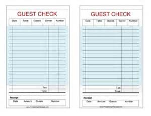 restaurant guest check template these printable guest checks are useful as restaurant