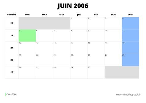 Calendrier Avril 2006 Calendrier De Juin 2006 224 Imprimer